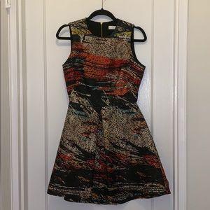 Hunter Bell Printer Shimmer Dress